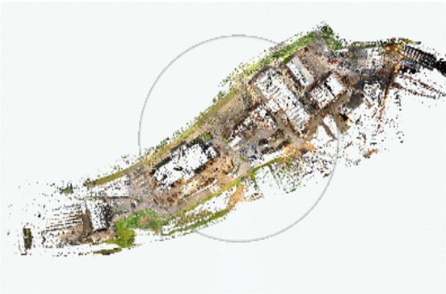 3D Scanning av 220 000 m2 fabriksområde